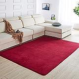 HUOQILIN Alfombra corta de felpa, antideslizante, color sólido, alfombra suave, alfombra para gatear, tatami, alfombra de noche, alfombra de área de 160 x 100 cm XUAGMT