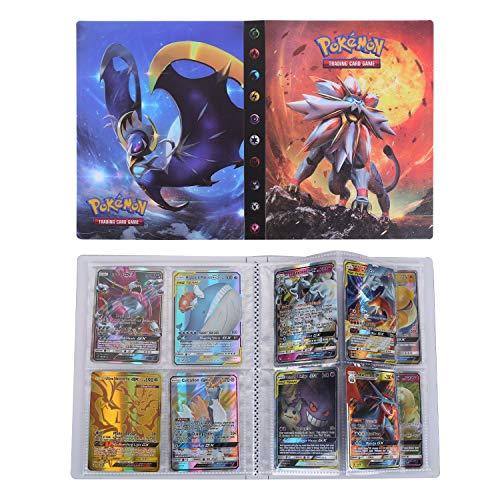 Pokemon Carte Album, Raccoglitore Porta Carte Pokemon, Pokemon Trading GX Ex Card Album Migliore Protezione (Sun & Moon)