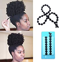 BunzeeBands Adjustable Length Hairband | Long Cushioned Headband Ties for Women with Thick, Braided, Kinky, Curly, Natural Hair | Extra Stretchy, No-Slip Design (Single, Black) (1 Pack, Black 1-Pack)