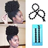 BunzeeBands Adjustable Length Hairband | Long Cushioned Headband Ties for Women with Thick, Braided, Kinky, Curly, Natural Hair | Extra Stretchy, No-Slip Design (Black 1-Pack)