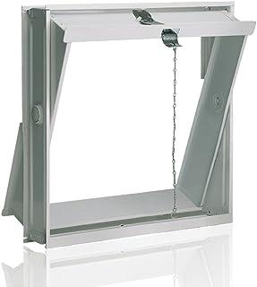 Ventana oscilobatiente: para el montaje en la pared de bloques de vidrio para 4 bloques de vidrio 24x24x8 cm