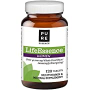 Pure Essence Labs LifeEssence Women's Formula - World's Most Energetic Multiple - The Master Multiple - 120 Tablets