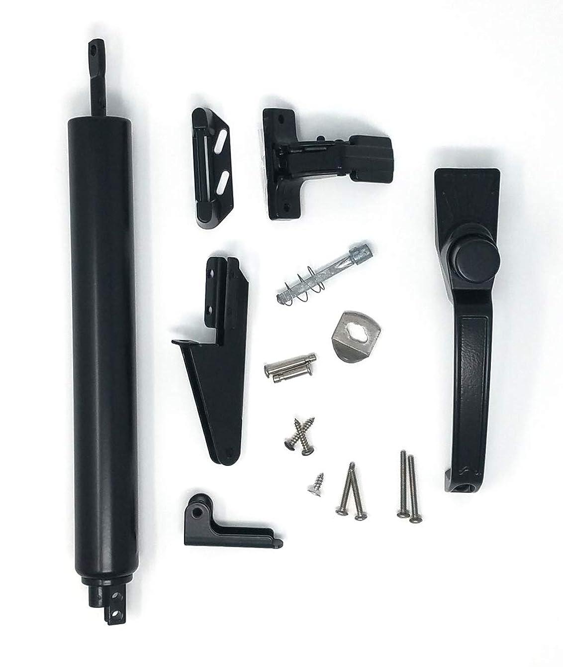 Suncoast Hardware Screen/Storm Door Closer Kit Stainless Steel Rod Accessories - Black