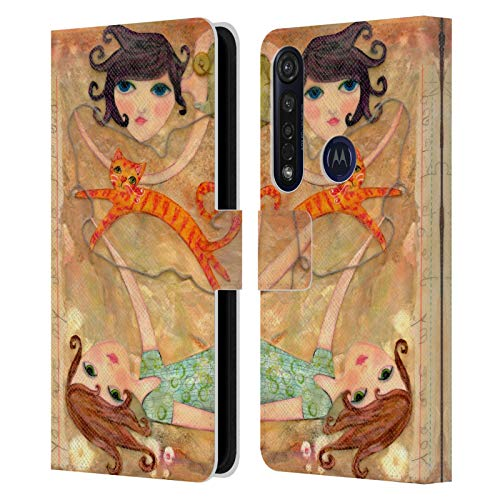 Head Case Designs Officially Licensed Wyanne Best Friends Big Eyed Girl Leather Book Wallet Case Cover Compatible with Motorola Moto G8 Plus