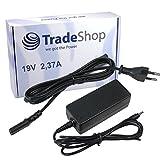 Notebook Laptop Netzteil Ladegerät Ladekabel Adapter 19V/2,37A 3,0mm x 1,1mm inkl. Stromkabel für Medion Akoya S6214T, MD99380, MD99440 / TravelMate X349-M Serie ersetzt ADP-45AW ADP-40MHB MBA1307