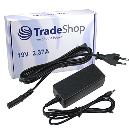 Notebook Laptop Netzteil Ladegerät Ladekabel Adapter 19V/2,37A 3,0mm x 1,1mm inkl. Stromkabel für Medion Akoya S6214T, MD99380, MD99440/TravelMate X349-M Serie ersetzt ADP-45AW ADP-40MHB MBA1307