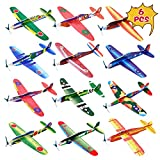 Kissdream 6 Pack 8 Inch Glider Planes - Birthday Party Favor Plane, Great Prize, Handout / Giveaway Glider, Flying Models.(Random Style)