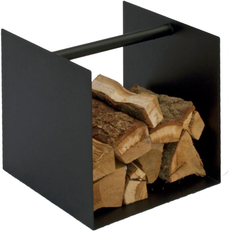 Spinder Design Kaminholzablage Box Ablage Schwarz Oder Wei, für Brennholz, Farbe Schwarz