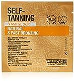 Comodynes - Toallitas Autobronceadoras Faciales y Corporales - Sensitive - Para Pieles Sensibles - 100% algodón - 8 uds
