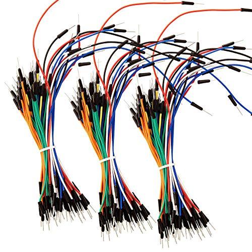 AZDelivery 3 x 65Stk. Jumper Wire Kabel Steckbrücken kompatibel mit Arduino Breadboard, Steckbrett