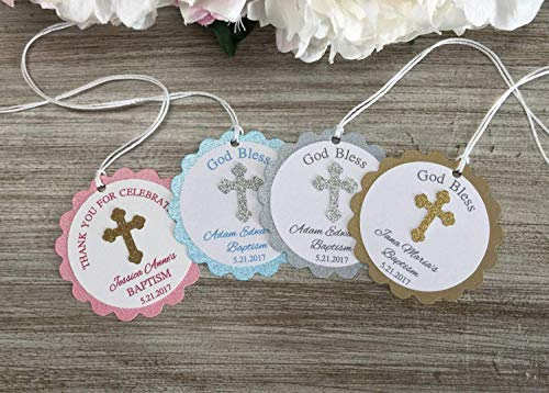 Baptism Party Favor Tags