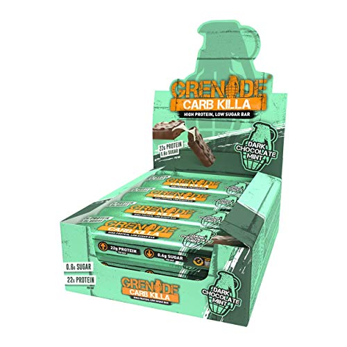Grenade Carb Killa Dark Chocolate Mint - 12 Barras