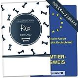 EU-Heimtierausweis Hülle Bone Tierausweis Schutzhülle schöne Geschenkidee personalisierbar mit Namen und Geburtsdatum (ohne Motiv, EU-Heimtierausweishülle personalisiert)