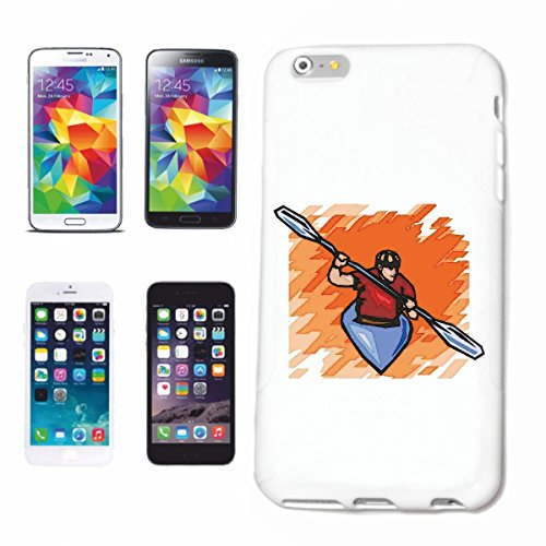 Reifen-Markt Funda para teléfono móvil compatible con Samsung Galaxy S6, kayak, deportes acuáticos, remo, Mega Sports Hobby Club, carcasa rígida para teléfono móvil Smart Cover