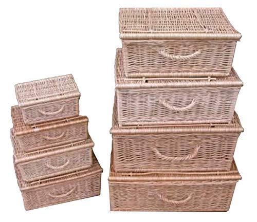 Koffer aus Weide Weidenkoffer Picknickkorb verschiedene Varianten zur Auswahl (UPW045 - Koffer 45)