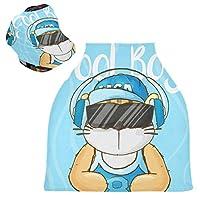 ブルークールベビータイガーベビーカーシートカバーキャノピー伸縮性看護カバー幼児用母乳の男の子の女の子のための通気性防風冬のスカーフ