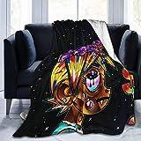 VJSDIUD Lil Uzi Vert Rapper Super Ultra Soft Fleece Blanket Impresión 3D Aire Acondicionado Franela Manta de Cama para Sala de Estar 60 'X50'