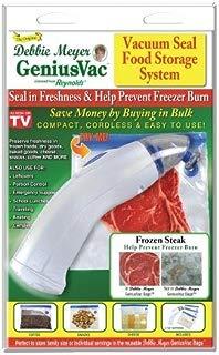 Debbie Meyers Resource Partner DMGV3QB GenuisVac Vacuum Seal Food Storage Syste