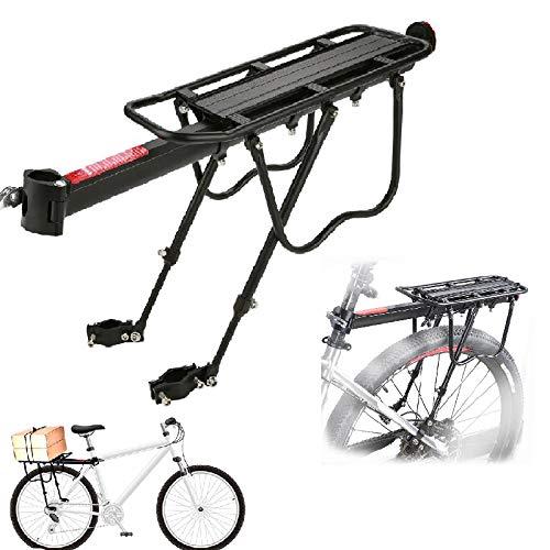 Zerone Fahrrad-Gepäckträger, Universal, Gepäckträger hinten, Mountainbike, Fahrrad, Halterung, verstellbar, aus Aluminiumlegierung, Tragkraft 25 kg