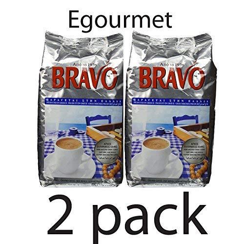 Bravo Greek Ground Coffee 2 Pack (16 Ounces x 2)