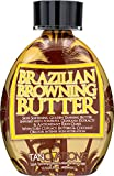 Ed Hardy Brazilian Browning Butter Dark Tanning Lotion - Skin Softening Golden Tanning Butter with Cupuacu Butters & Coconut Oils for Intense Skin Hydration 13.5 oz.