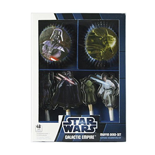 Dekoback 01-14-00508 - Set per Muffin Impero Galattico Guerre Stellari, 48 Pezzi