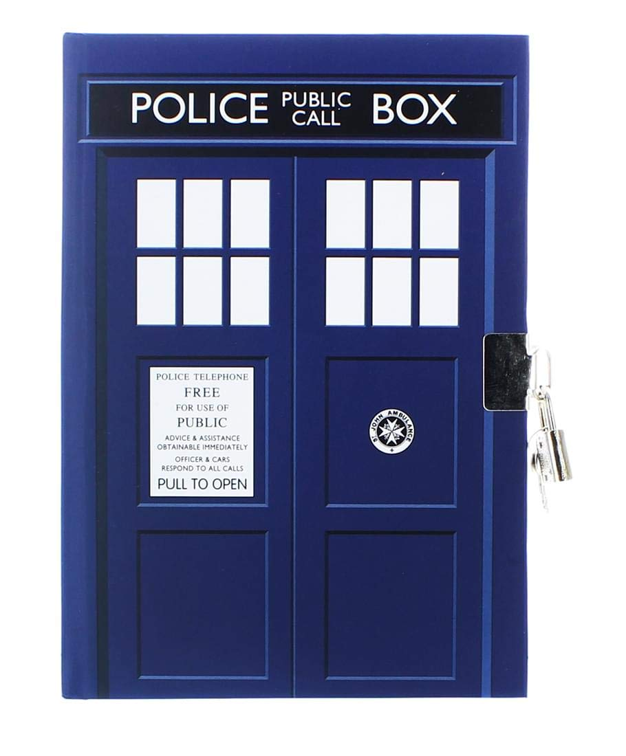 Doctor Who Tardis Journal with Lock