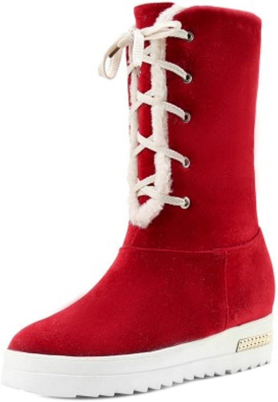 AicciAizzi Women Warm Boots Lace Up