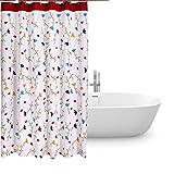 Duschvorhang anti-schimmel 240x200,Bad vorhänge wasserdicht,Shower curtain textil,duschvorhang 240 cm breite,Dusch Vorhang anti-Bakteriell waschbar mit 12 ring,Polyester Badewanne Duschvorhänge