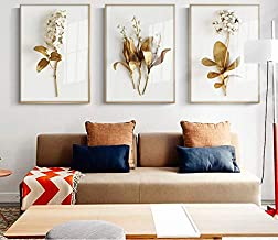 Ciervos dorados abstractos en el bosque lienzo pintura carteles e impresi/ón moderna decoraci/ón cuadros de arte de pared para sala de estar dormitorio-50x70cm sin marco