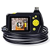 DBPOWER 2.7 Inch Color LCD Screen Endoscope Semi Rigid Inspection Snake Camera with 3M/9.8FT Tube, Function of Zoom, 360 Degree Rotation and DVR Digital Video Recording