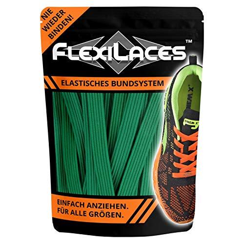 FLEXILACES - elastische Schnürsenkel | nie Wieder Schuhbänder binden - GRÜN