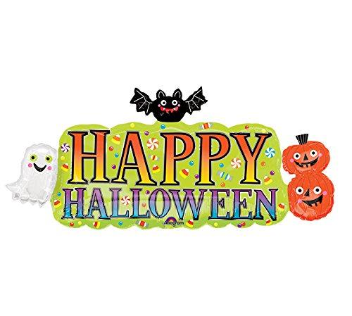 Amscan International 3591301 Halloween Banner SuperShape XL Folie Ballon 91cm x 16