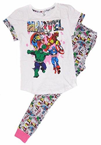 Marvel Damen Superheroes Comic Strip Pyjama Set: Klein (8-10)