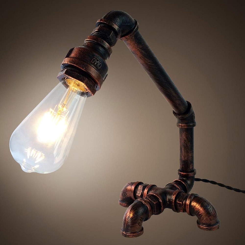 Magosca Amerikanischen Edison Industrial Retro Schreibtischlampe Individuelle Wasserleitung Form Schmiedeeisen Anti-rost Tischlampe Dekorative Bar Restaurant Kreative Tischlampe