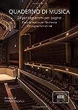 quaderno di musica: 24 pentagrammi per pagine. carta da musica per l'orchestra. 300 pagine formato a4