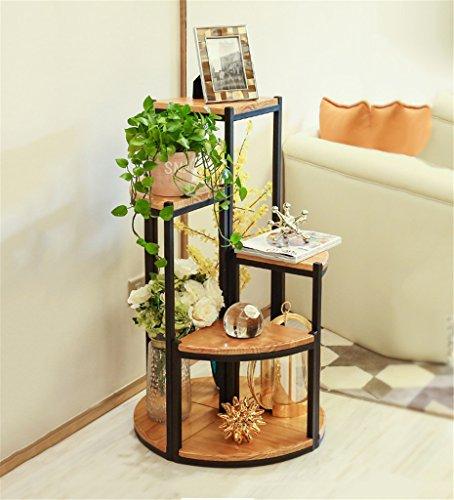 FPF Etagère de Fleur Style américain Rack Fleur créative série Pot Pot Fleur/Rack Fleur/Bonsai Cadre Balcon Salon Cadre en Bois Massif Porte-Bouteilles (Taille : 38+58+78+100cm)