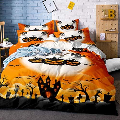 LanS Halloween series bedding - duvet cover and pillowcase, bedroom three-piece bedding (duvet cover + 2 pillowcases)