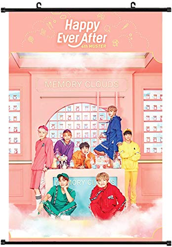 S-Mechanic BTS Poster BTS en tissu Motif cakemono Jungkook, Jimin, V, Suga, Jin, J-Hope, Rap Monster | 'Love Yourself Tear', Style 3., 60 x 40 cm