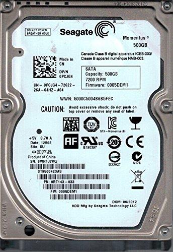 Seagate ST9500423AS P/N: 9RT143-033 F/W: 0005DEM1 SU 500 GB