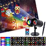 Clearance LED Chritsmas projector lights Outdoor Light with Nebula Wave Light 2 in 1 for Xmas, Party, Birthday, Thanks Giving Gift - 16 Patterns Remote Control