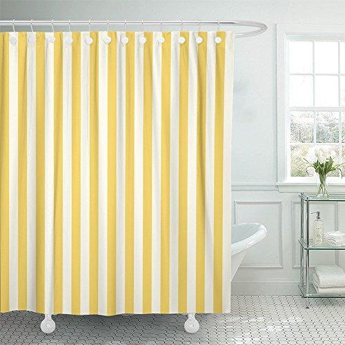 Cortina de Ducha Impermeable amarillas con rayas 152x182 cm
