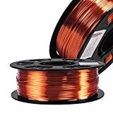 Silk Metallic Shiny Copper 3D Printer Filament, 1.75mm PLA 3D Printing Material 1kg 2.2lbs/Spool, Widely Fit for FDM 3D Printer with One Bag Free Filament Sample Pack by DO3D