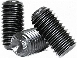 Full Thread 100 pcs 18-8 AISI 304 Stainless Steel Hex Socket Set Screws 1//4-28 X 1//4 Cup Point