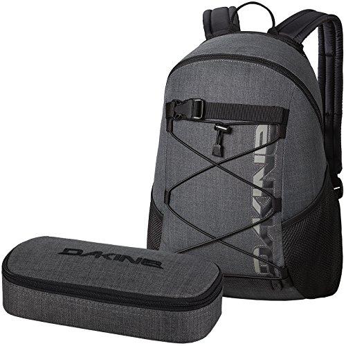 DAKINE 2er Set Rucksack Schulrucksack 15l Wonder + School CASE XL Mäppchen Carbon