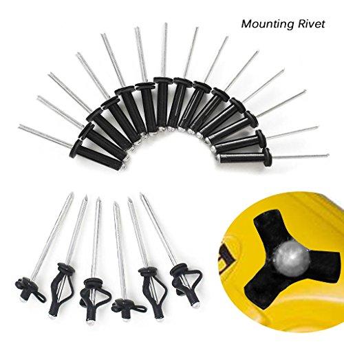 20pcs kayak canoe grip rivet deep water long grip tri-fold bulb mounting rive hb