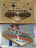 Las Vegas Welcome to Fabulous Playing Cards 2 Deck Set (Shiny Gold & Silver FOIL)