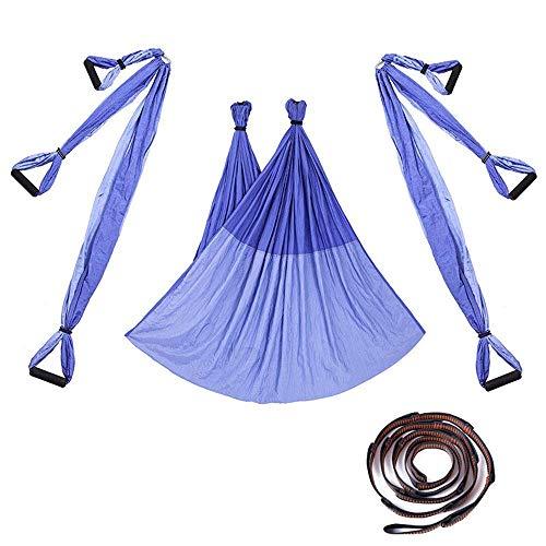 Alegre La hamaca de yoga extiende la aptitud aérea de la hamaca de yoga de la aptitud y la tela de paracaídas puede colgarla en el marco de la puerta para el gimnasio interior del hogar (color: rosa,