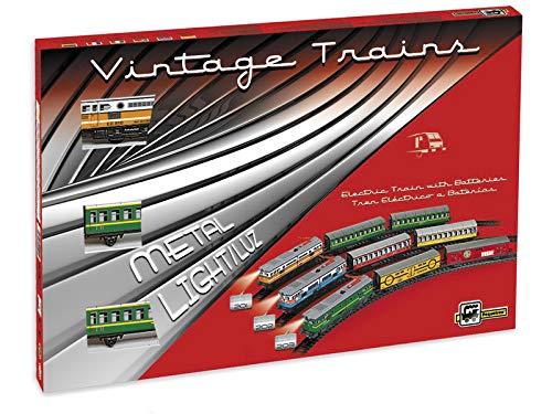PEQUETREN PEQUETREN201Classic passeggeri Treno Modello Metallizzato con Luce