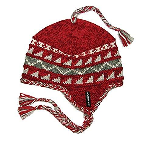 Everest Designs Sherpa Ohrenklappe, Damen Herren, Sherpa Earflap, rot, One Size